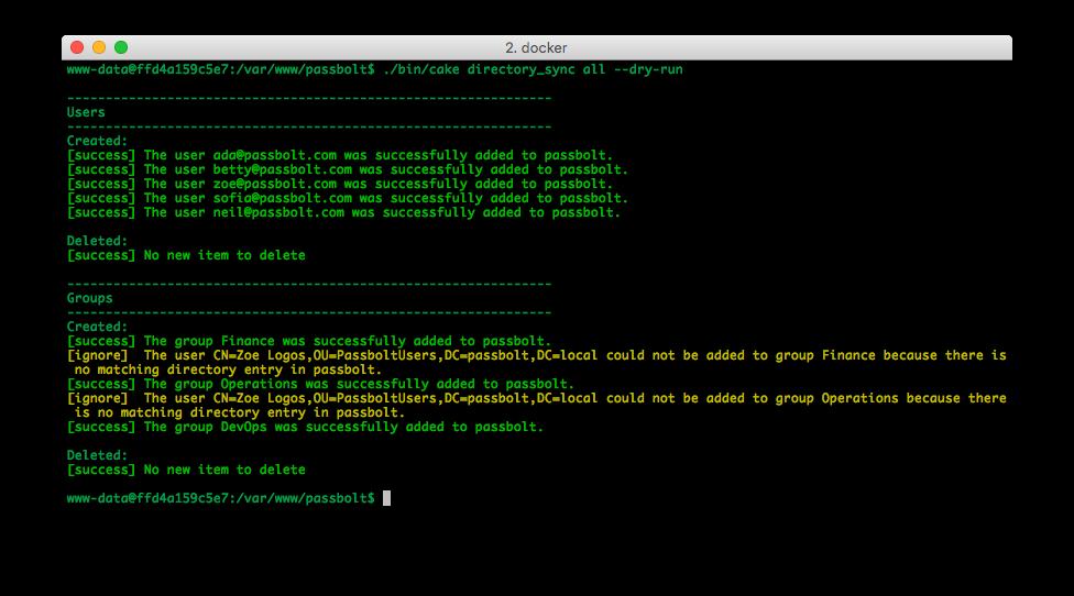 Screenshot of directory synchronization sync in dry run