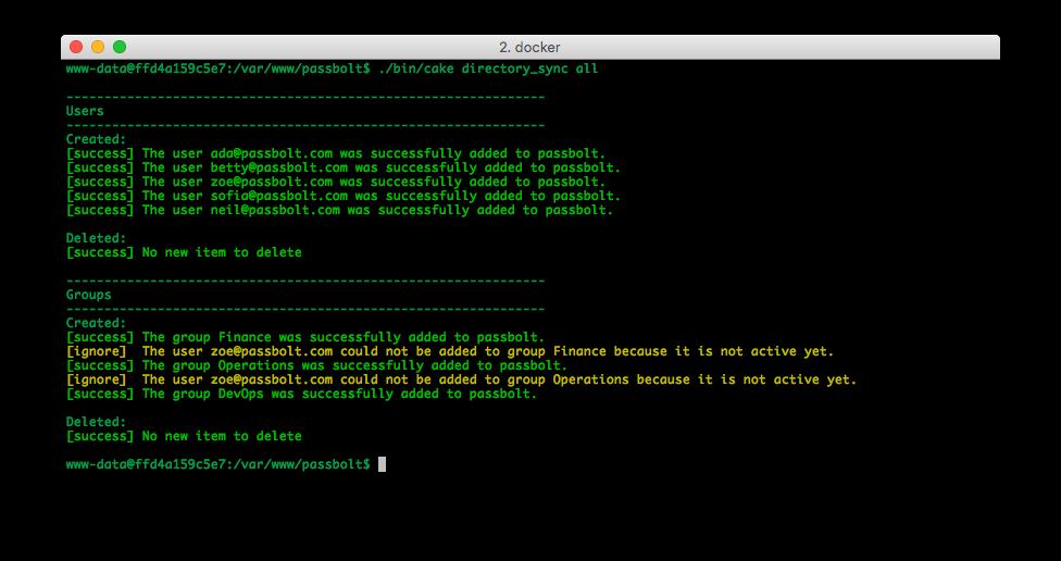 Screenshot of directory synchronization running