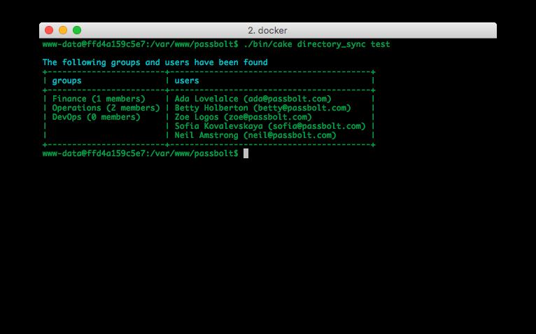 Screenshot of directory synchronization test