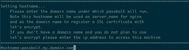 Provide the DNS name for the SSL script