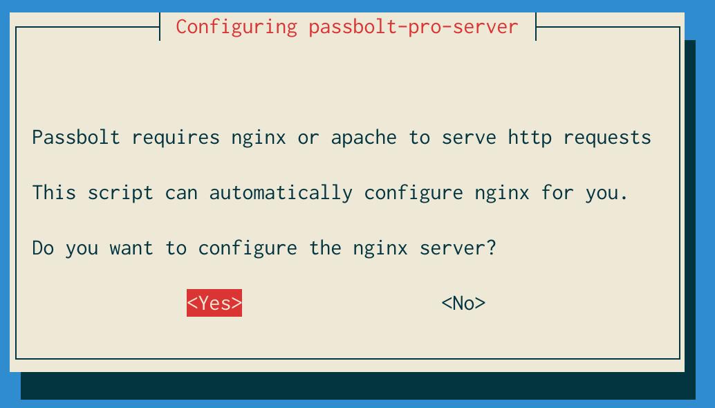 Configure nginx dialog