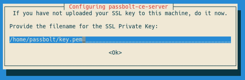 SSL private key path