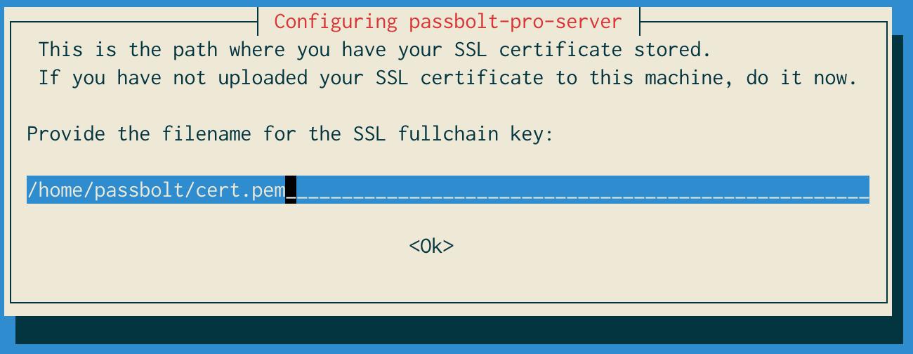 SSL certificate path