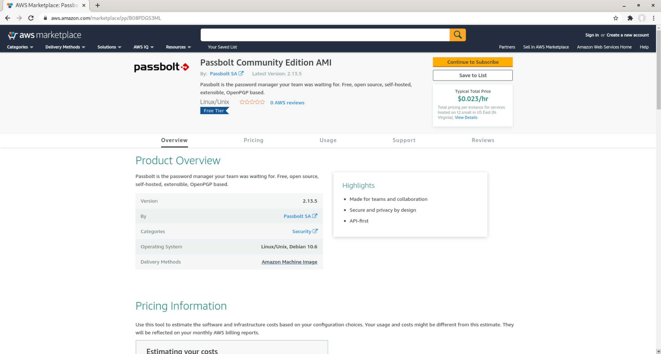 Subscribe to passbolt marketplace