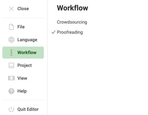 Crowdin editors switch