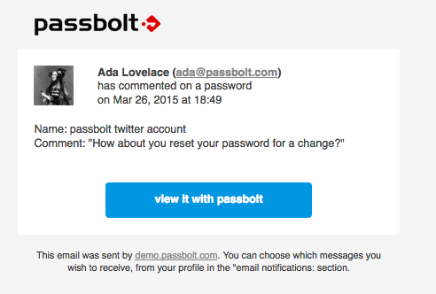 example of new email notification